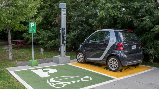 An Electric Car Charging Station