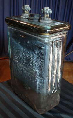 an early example of a lead acid battery
