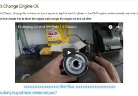 Oil Change-Vw Polo 1.6 Classic