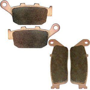 Front and rear brake pads