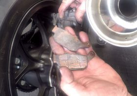 How To Fit Rear Brake Pads On Honda NC750X