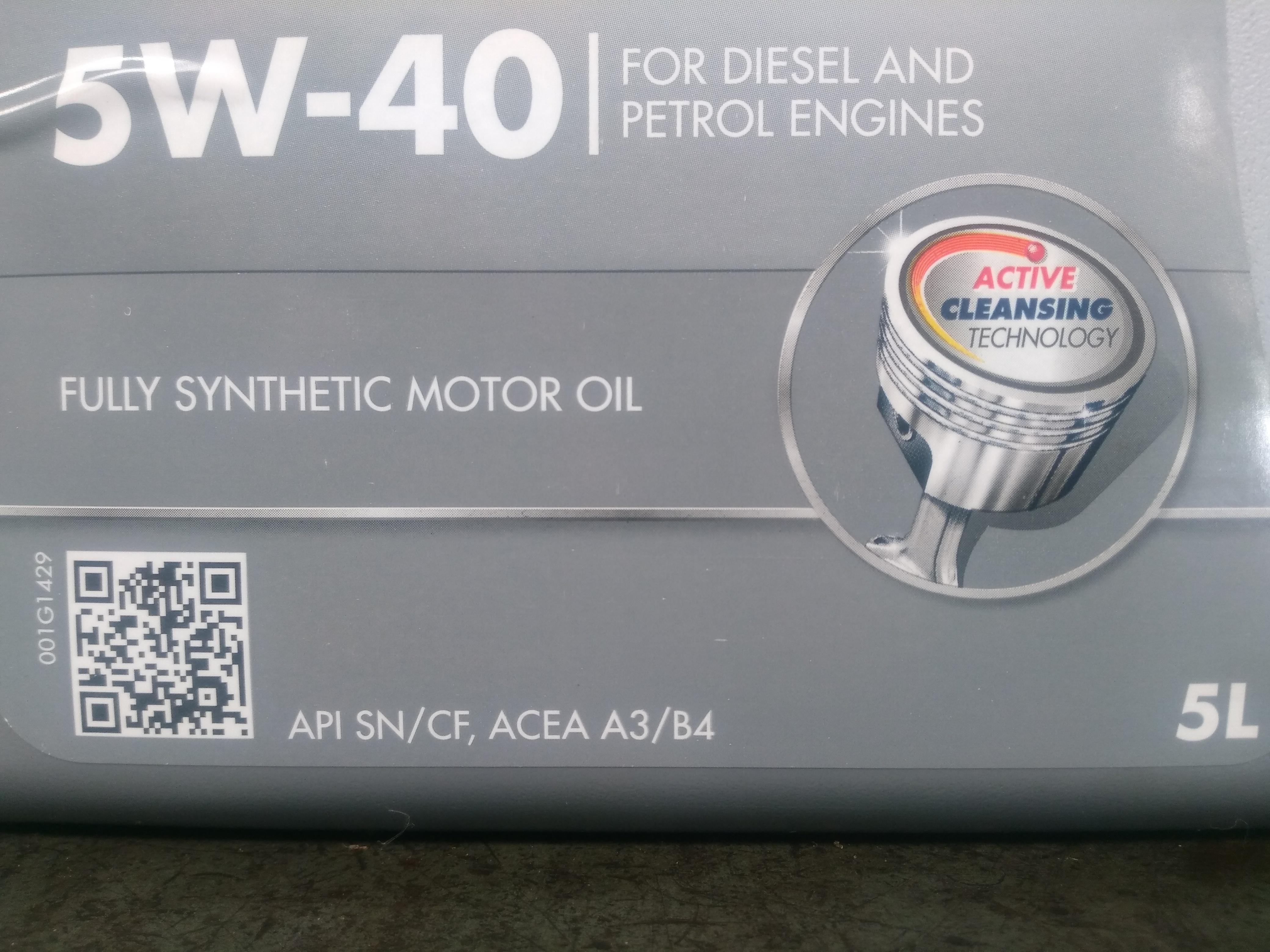 5w40 oil