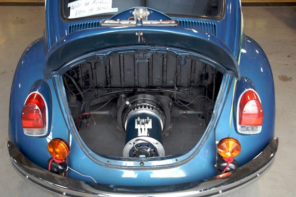 An Electric Motor installed in a VW Beetle