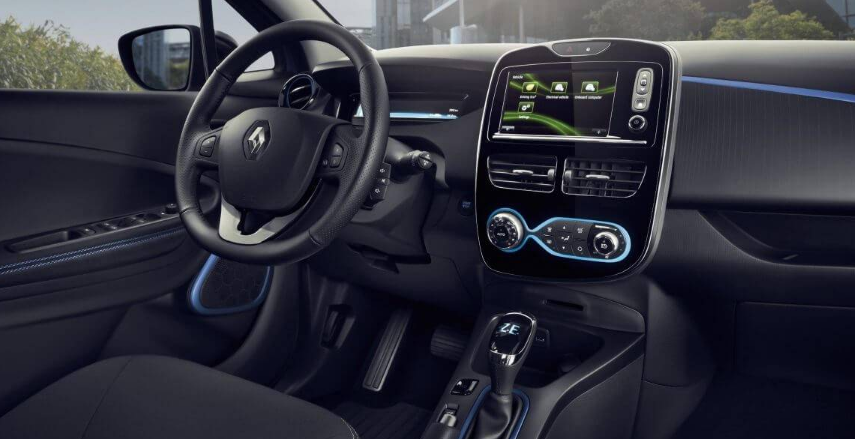 Renault Zoe Electric Car Cockpit