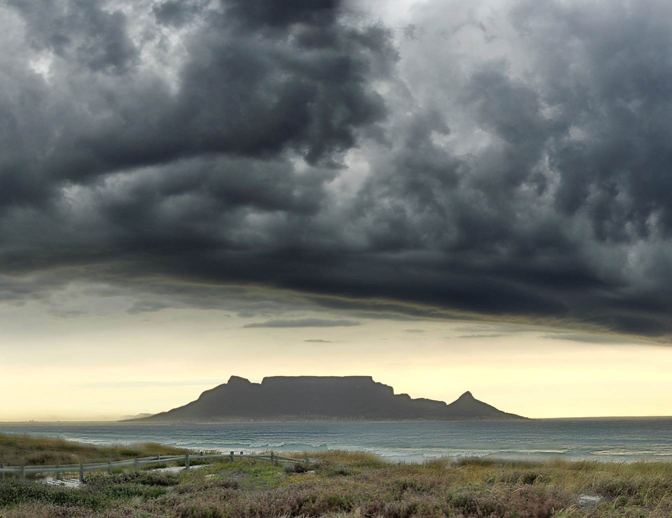Table Mountain viewed from Bloubergstrand