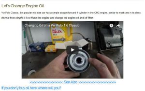 Oil Change-Vw Polo 1.6 Classic