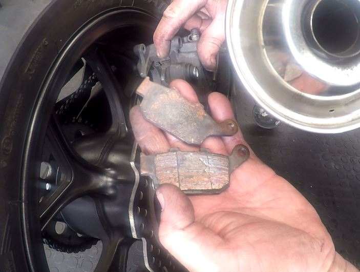 Honda Nc750x Rear Brake Pad Replacement