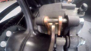 Rear brake pads on Honda NC750X