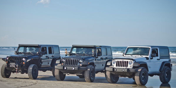 Fun on the Beach with Jeep