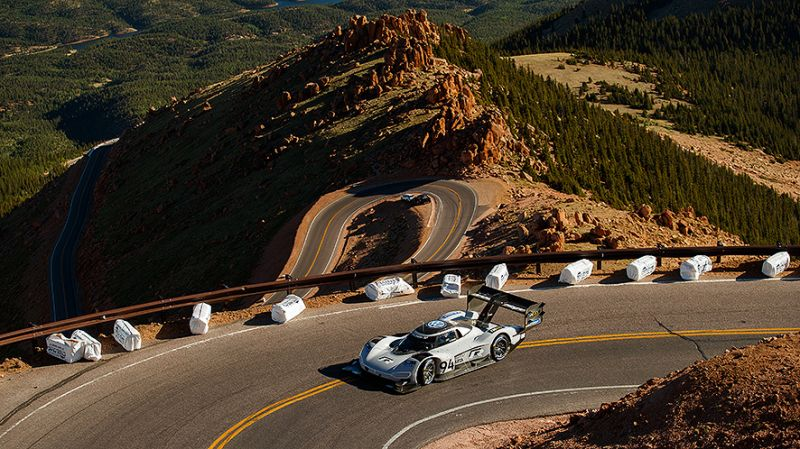 Vw Electric Car World Record-Pike's Peak
